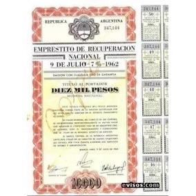 Compro Bono Empréstito 9 De Julio 1000$ Y 10000$