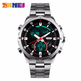 Relógio Masculino Skmei 1146 Pulseira Aço Inox Promoção