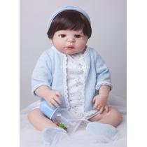 Bebê Reborn Corpo Inteiro Silicone Menino Recem Nascido