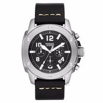 Relógio Fóssil Cronógrafo Masculino Couro Preto Fs4928/0kn