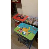 Escritorio Infantil Mesa Y Sillita Varios Diseños .