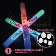 Bastão De Led Personalizado - Kit 30un + 5 Balões De Led