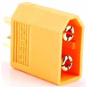 Conector Xt60 Macho (conector Do Esc / Carregador) Amarelo