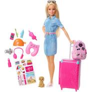 Barbie Vamos De Viaje Con Accesorios Mattel Fwv25