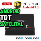 Android Tv Box Con Tdt Y Decodificador Satelital Ki Pro