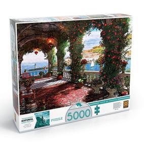 Quebra Cabeça Puzzle Tarde Na Varanda 5000 Peças - Grow