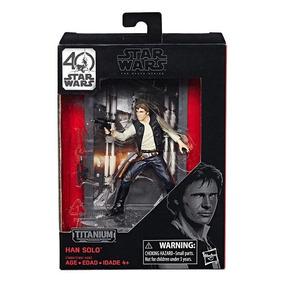 Star Wars Titanium Series Han Solo Figuras 3.75 Pulgadas