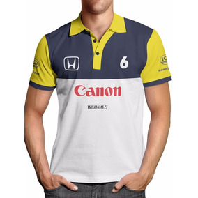 Camisa Polo F1 Retrô Williams Nelson Piquet
