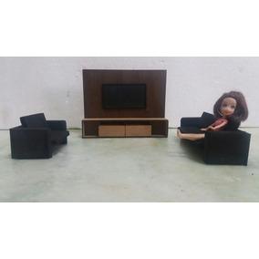 Mine Mobília Para Boneca Polly - Conjunto Para Sala.