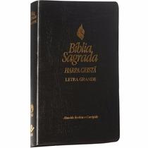 Biblia Sagrada Com Harpa Letra Grande Capa Preta Cpad Sbb Cv