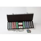 Fichero Poker Alum. 500 Fichas Laser 11,5 Grs. C/2 Naip. Pok