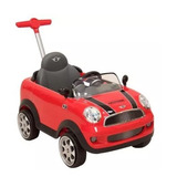 Montable Push Car Mini Cooper Rojo Rosa Blanco Prinsel