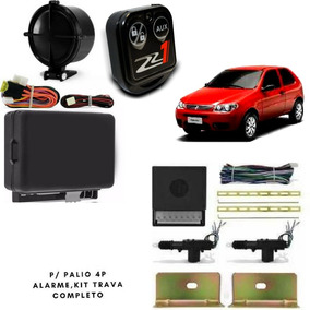 Alarme Auto Carro + Kit Trava Elet 2p Palio Suporte