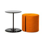 Puff Mesa Moderno Tapizado , Araña Naranja