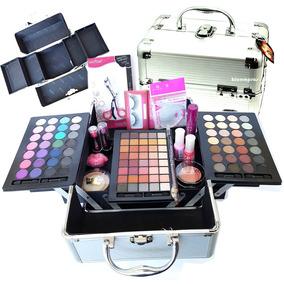 Maleta Maquiagem Profissional 107 Itens 3d Esponja Silicone