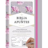 Biblia De Apuntes Gris Floreado Y Negra Rvr60