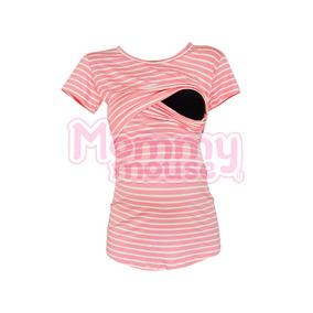Blusa Maternidad-lactancia Rayas. Mommy Mouse