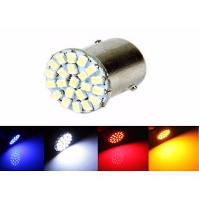 Lampada Ba15s 22 Led 1 Polo Varias Cores 1156 P21w (unidade)