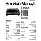 Manual De Serviço Tecnico Technics Sl-1200 Mk2, Mk5, M3d,