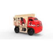 Trencity Camión Bombero Waty - Camiones Juguetes De Madera