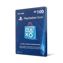 Cartão Psn Plus Card Playstation De R$ 100 Reais Ps3 Ps4
