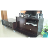Mueble De Tv Trendy Vandryher Color Caoba