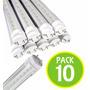 Pack 10 Tubo Led 18w 120cm Cubierta Transparente / Fernapet