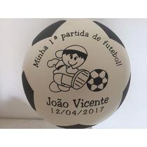 Kit 50 Bolas De Vinil Personalizadas Futebol Frete Gratis