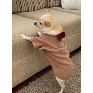 Capa Com Gravatinha Para Pet - Roupas Para Cães Cor Caramelo