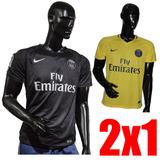 2x1 Camisetas Futbol Psg Club Europeos Adulto Champions 917a629ffb68c