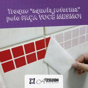 Pastilha Em Adesivo Parede Faixa Azulejo Original + Barato!