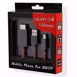 Cabo Mhl Hdmi V8 Samsung Galaxy S4 S5 Note Hd Tv Micro Usb