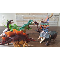 Coleção 4 Dinossauros Pequenos! Ótimo Custo Benefício!