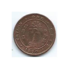 Moneda De Ceylan 1 Cent 1870 Muy Buena P/llevar Ya