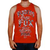 Camiseta Regata Fox Hammer Drop Vermelho P(s) Rs1