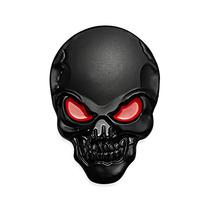 Adesivo Tuning Liga Metal 3d Caveira Negra Skull Black J3