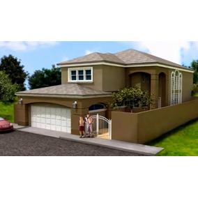 Planos De Casa San Aaron En Versión Autocad Y Pdf Completo!!