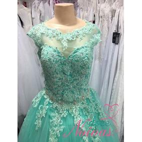 Vestido Debutante Verde Tiffany Esmeralda