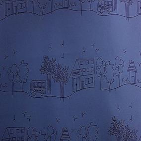 Tecido Courvin Escolar Azul Para Onibus E Vans -