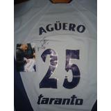Autografiada! Camiseta Independiente Topper 25 Kun Aguero !
