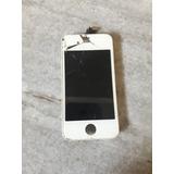 Tela Iphone 4s Original Touch Trincado