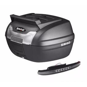 Baul Moto Shad Sh40 40 Litros + Luz Stop De Regalo Y Soporte