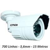 Câmera Cftv Citrox 700 Linhas Infra 15 Metros Lente 3,6mm