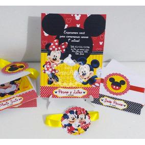 Arte Digital Convite Aniversário Minnie E Mickey Minie