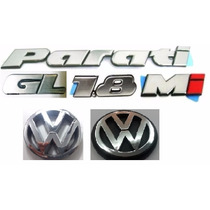 Kit Emblemas Vw Parati Gl 1.8 Mi Grade/mala Bola 97+brinde F