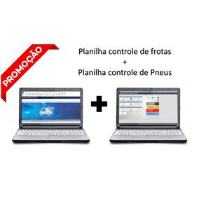 Planilha Excel Controle De Frota + Controle Pneus - Oferta
