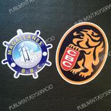 Calcomanía Sticker Estiquer Emblema De Leones Y Magallanes