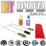 Kit De Limpeza De Armas Curtas P/ Revolver E Pistolas.