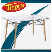Mesa Hogar Comedor Eames Rectangular Vidrio 120 Tisera Eam20