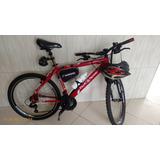 Bicicleta Moutain Bike Shimano, Aro 26, 21 Marchas